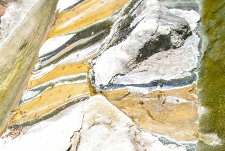 Patterns on the rocks in the hot springs  Stock Photo
