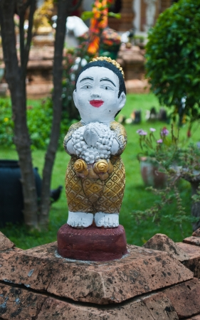 Thai girl sculpture for Sawasdee welcome of thailand