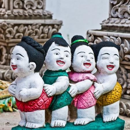 Doll of joyful children,Thailand