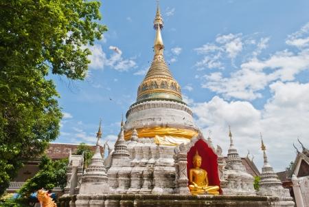 pagoda in thai temple at Chiang Mai,Thailand