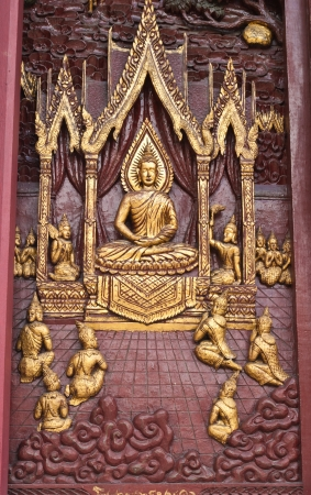 Wood carving in the temple