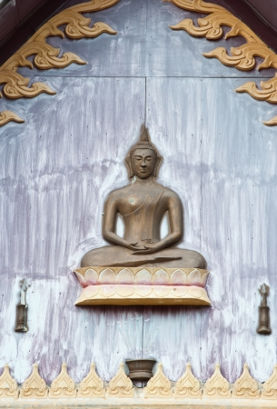 Low relief Thai style,The creation of Buddha images in the past