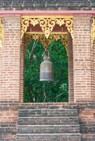 buddhist bell tower Stock Photo