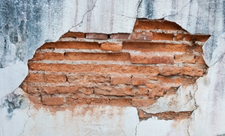 Old weathered brick wall fragment Stock Photo - 14842152