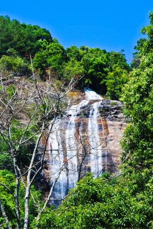 Siri Poom Waterfall at Doi Inthanon national park with clear sky, Chiang Mai, Thailand.