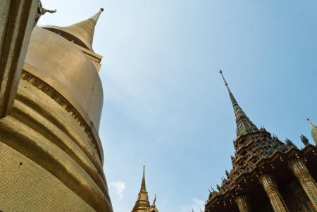Pagoda at Wat Phra Kaew Grand Palace of Thailand Stock Photo