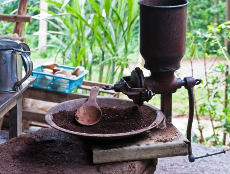 Vintage coffee mill grinder Stock Photo - 15515820