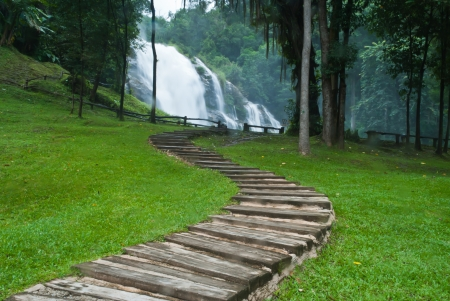 Path along the waterfall in forest Stock Photo - 15515864