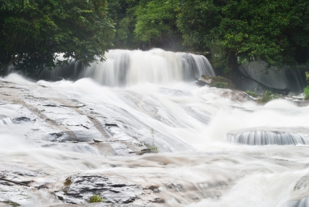 beautiful waterfall in the National Park ,Thailand Stock Photo - 15515712
