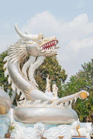 Silver colour Dragon statue