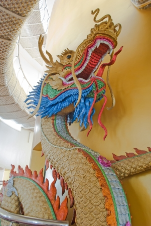 Close up of Golden Dragon statue
