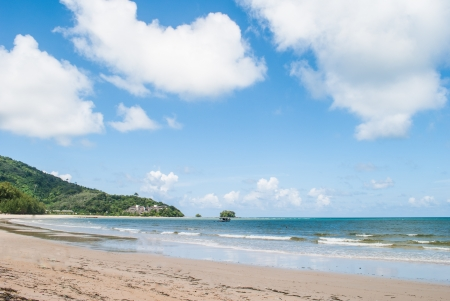 beach and tropical sea at Phuket island,Thailand  Stock Photo