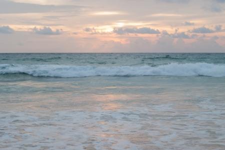 Sunset on the beach at Phuket island, Thailand
