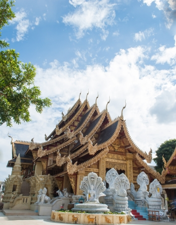 Ancient Thai temple in Lamphun Province, northern Thailand  Stock Photo