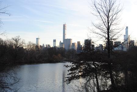 december: central park lake in December