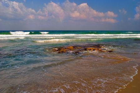 Light sea surf on an empty shore Stock Photo - 713313