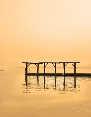 The Dead Sea near to medical beach Ein-Bokek Stock Photo