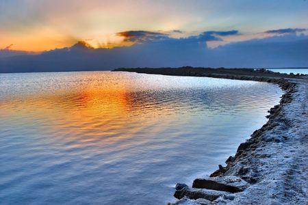 Sunrise on the Dead Sea in Israel