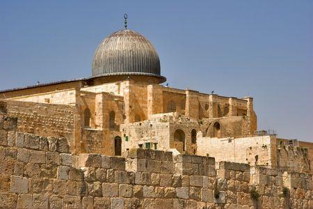 A black dome of mosque Al- Aqsa in Jerusalem Stock Photo - 967676