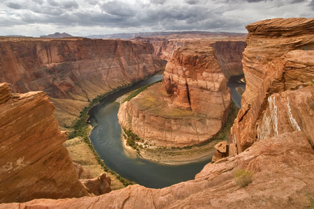 An abrupt bend of the river Colorado in state of Utah in the USA Archivio Fotografico