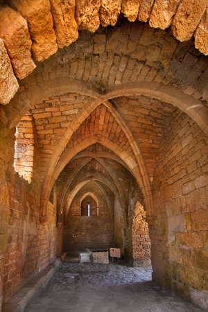 A fragment of a fortress of the Roman period in ancient to port Kejsariya in Israel photo