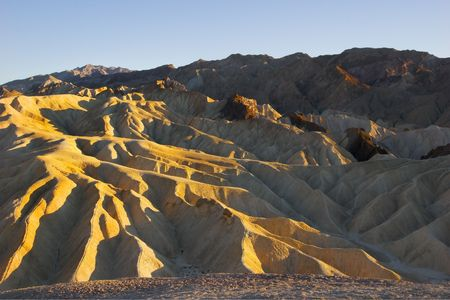 A beautiful and well-known part of Death valley Zabriskie-point. photo