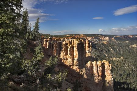 rock strata: Well-known Bryce canyon in state of Utah USA