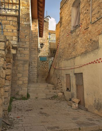 Old quarters of the ancient city of Tsfat Stock Photo - 2635144
