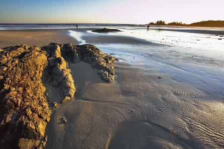 Phenomenally beautiful sunset at Pacific coast of Canada in area Tofino Stock Photo - 2780158