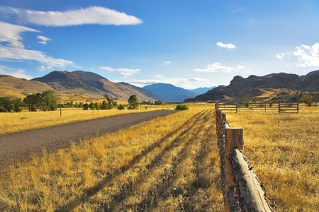 Serene autumn day on the American farm Stock Photo - 2847676