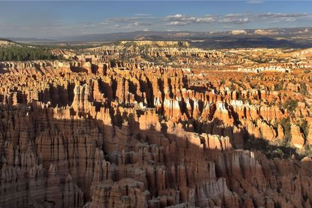 paling:  A stone paling in Bryce canyon in state of Utah in the USA Stock Photo