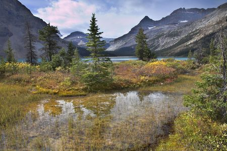 A fine mountain resort in mountains of Canada at lake Stock Photo - 3142489