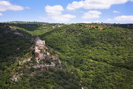 crusaders: The rests destroyed a palace of crusaders in mountains of Israel