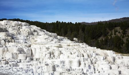 calcareous: World-wide well-known calcareous formations travertin? in Yellowstone national park