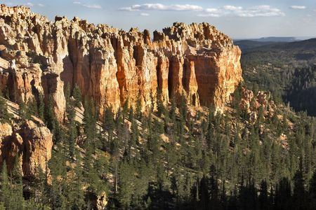 Abrupt breakage in Bryce canyon in state of Utah in the USA photo