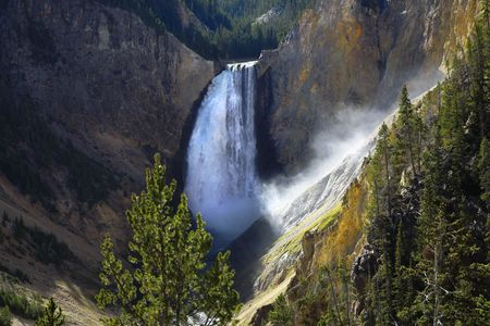 hundreds: Magnificent falls in a canyon of Yellowstone national park. More magnificent pictures from the American and Canadian National parks you can look hundreds in my portfolio. Welcome!