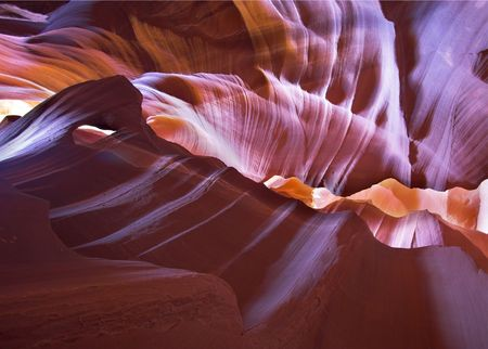 The well-known canyon of Antelope in the USA in a bright sunny day     photo