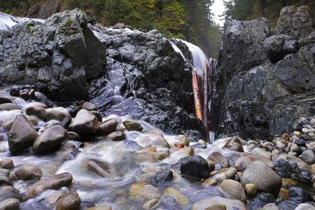 englishman: Cascade picturesque falls on island Vancouver - Englishman River Falls