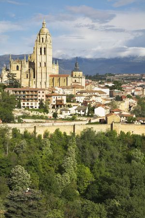The ancient city of Segovia in solar May day Stock Photo - 3827821