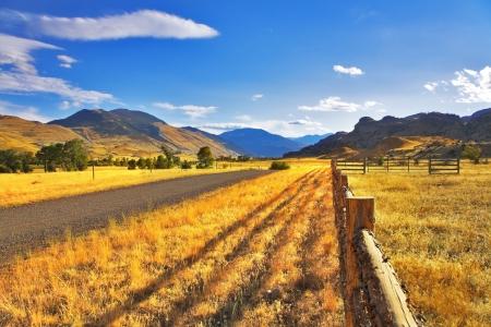 Serene autumn day on the American farm Stock Photo - 3827820
