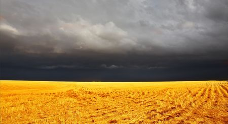 The thunder-storm in a countryside in state of Montana begins Stock Photo - 3849792