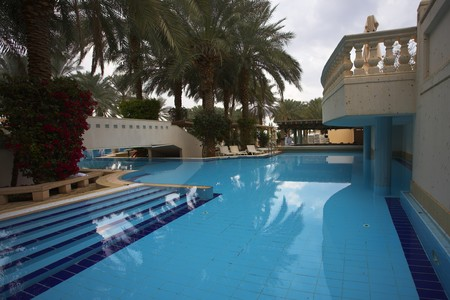 Best rest in magnificent hotel about picturesque pool Editorial