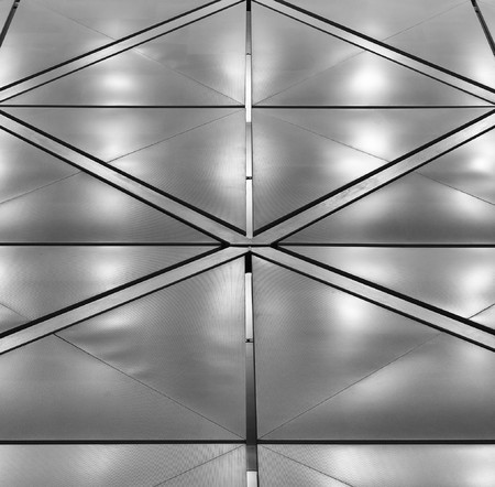A ceiling from the polished metal at the airport of Hong Kong      photo