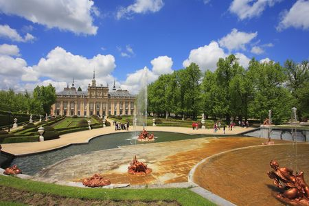 Magnificent palace in classical style in Spain photo
