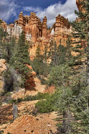breakage: Rotura brusca en Bryce Canyon en el estado de Utah en los EE.UU.