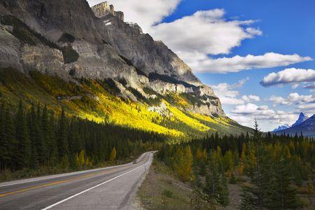 Magnificent American road. Northern landscape Archivio Fotografico