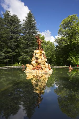The magnificent fountain decorated by sculptures on mythological themes Stock Photo - 5931691