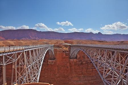 Sleek modern bridge across the Colorado River in the Navajo Reservation photo