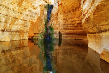 Picturesque canyon Ein-Avdat in desert Negev in Israel