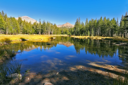 Beautiful lake in well-known national park Josemite photo